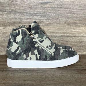 Steve Madden Caliber Camo High-Top Wedge Sneaker